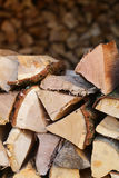 Piles of chopped firewood Stock Image