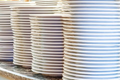 Piles of clean utensils Stock Photography