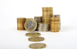 Piles of coins Stock Photography