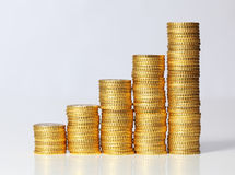 Piles of coins Royalty Free Stock Photos