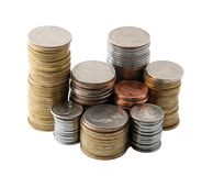 The piles of coins Stock Photography