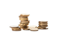 Piles of coins Royalty Free Stock Photo