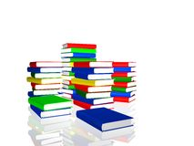 Piles of color books Royalty Free Stock Photo