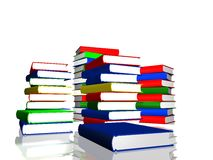 Piles of color books Royalty Free Stock Photography