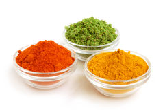 Piles of color spices Stock Image