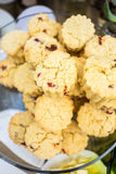 Piles of Cranberry Scone placed on Glass plate Royalty Free Stock Photo