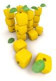 Piles of cubic lemons Royalty Free Stock Photo