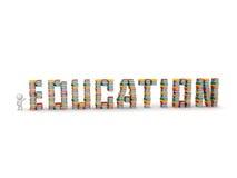 piles d'apparence du caractère 3D de livres orthographiant l'éducation Image libre de droits