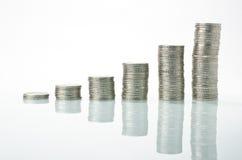 Piles d'argent Photo libre de droits