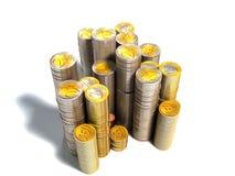 Piles d'euro pièces de monnaie Photos libres de droits