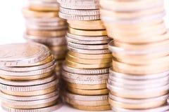Piles des euros Photo stock