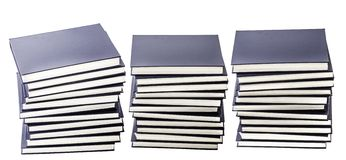 Piles of Dark Blue Hardcover Books Royalty Free Stock Photography