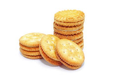 Piles de biscuit Photographie stock