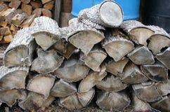 Piles de bois de chauffage Photo libre de droits