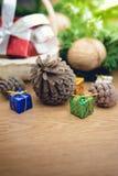 Piles de cadeaux de Noël Photo libre de droits