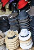 Piles de chapeaux traditionnels Photos stock