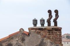 Piles de cheminée Photo libre de droits