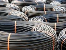 Piles de la tuyauterie de PVC Images libres de droits