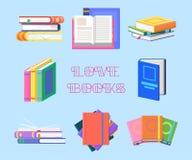 Piles de manuel ou tas de livre, manuel littérature illustration stock