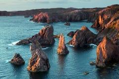 Piles de mer de Mangurstadh Photographie stock libre de droits