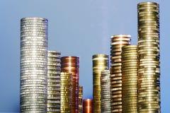 Piles de pièce de monnaie Photo libre de droits