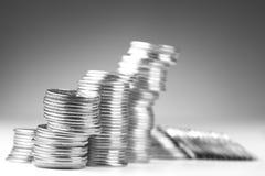 Piles de pièces de monnaie Image libre de droits