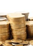 Piles de pièces de monnaie. Photographie stock