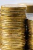 Piles de pièces de monnaie. Photo stock