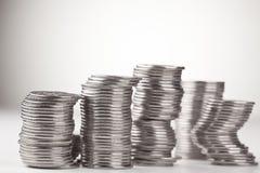 Piles de pièces de monnaie Photo libre de droits