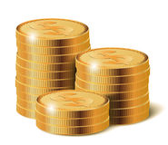 Piles de pièces de monnaie, illustration de vecteur Photos stock