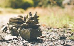 Piles de pierres Photos libres de droits
