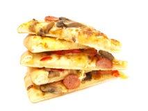 Piles de pizza Images libres de droits