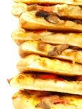 Piles de pizza Photographie stock libre de droits