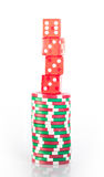 Piles de puces de casino Photographie stock