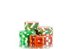Piles de puces de casino Image libre de droits