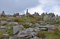 Piles de roche dans de bas tatras Photographie stock libre de droits