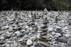 Piles de roches Photos libres de droits