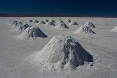 Piles de sel Photos libres de droits
