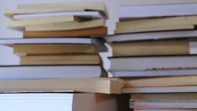 Piles de timelapse de livres clips vidéos