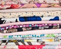 Piles de tissu Photos stock