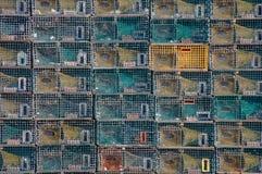 Piles de trappes de langoustine Photographie stock libre de droits