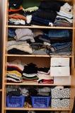 Piles de vêtements Image libre de droits