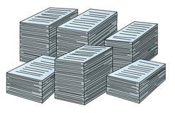 Piles de vecteur de papiers Photographie stock