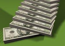 Piles des dollars illustration de vecteur