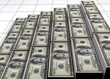 Piles des dollars Photographie stock libre de droits