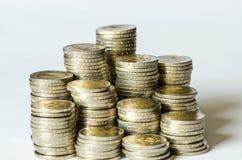 Piles des pièces de monnaie Photo stock