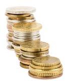 Piles des pièces de monnaie Image stock