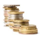 Piles des pièces de monnaie Photos stock