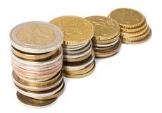 Piles des pièces de monnaie Images stock