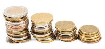 Piles des pièces de monnaie Image libre de droits